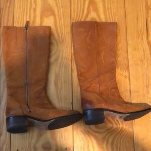 Cole Haan leather boots with Nike air sole